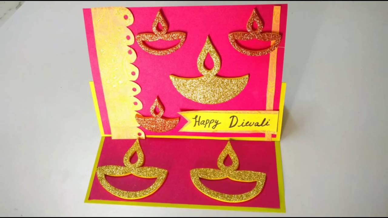 Easy Diwali Easel Card Making Idea How To Craftlas Youtube