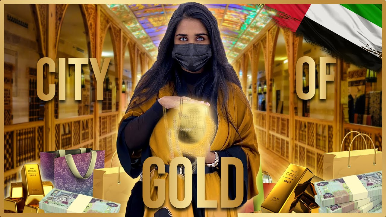 I spend all my money on this Gold!!!!   Dubai Gold Souk Market    Shopping Haul Vlog