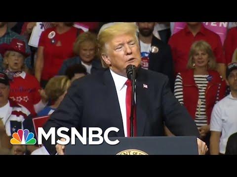 Donald Trump Demonizes Migrant Caravan At Rally For 'Beautiful Ted' Cruz | The 11th Hour | MSNBC