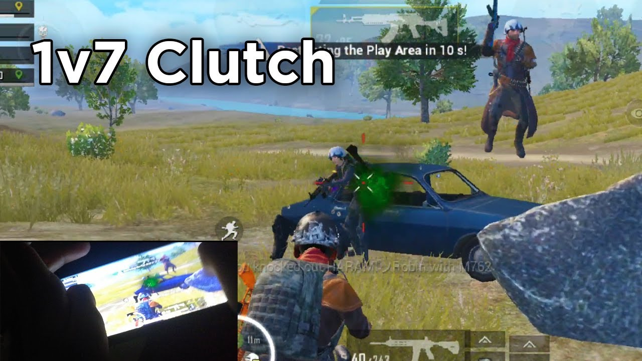 Clutch.exe with handcam   PUBG MOBILE   7 Finger Claw + Full Gyro on Poco F1