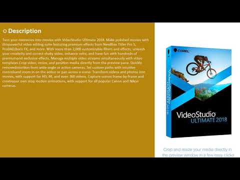Corel VideoStudio Ultimate 2018 Video Editing Suite Discount