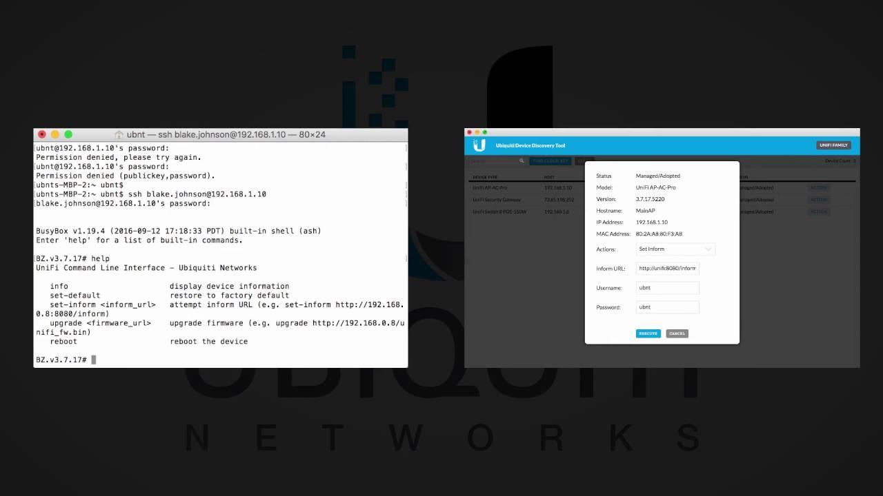 Ubiquiti - UniFi Setup Wizard & Device Adoption