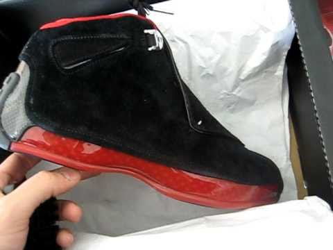 260096036aa9 Nike Air Jordan XVIII Retro Black Red Collezione Pack 2008 - YouTube