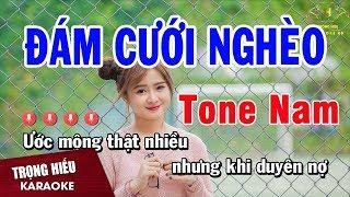 Karaoke Đám Cưới Nghèo Tone Nam Nhạc Sống   Trọng Hiếu