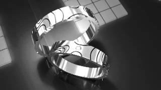 Обручальные кольца из белого золота \