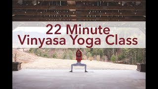 22 Minute Vinyasa Yoga Flow Class