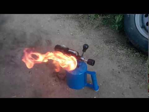 Как разжечь паяльную лампу