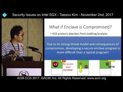 ACM CCS 2017 - Security Issues on Intel SGX - Taesoo Kim