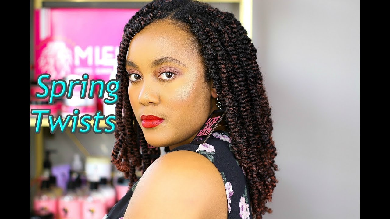 Spring Twist On Natural Hair Tutorial Protective Style Youtube