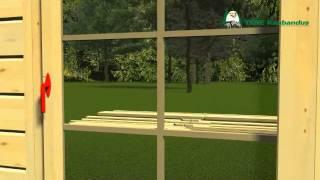Diy Log Cabin Assembly Video