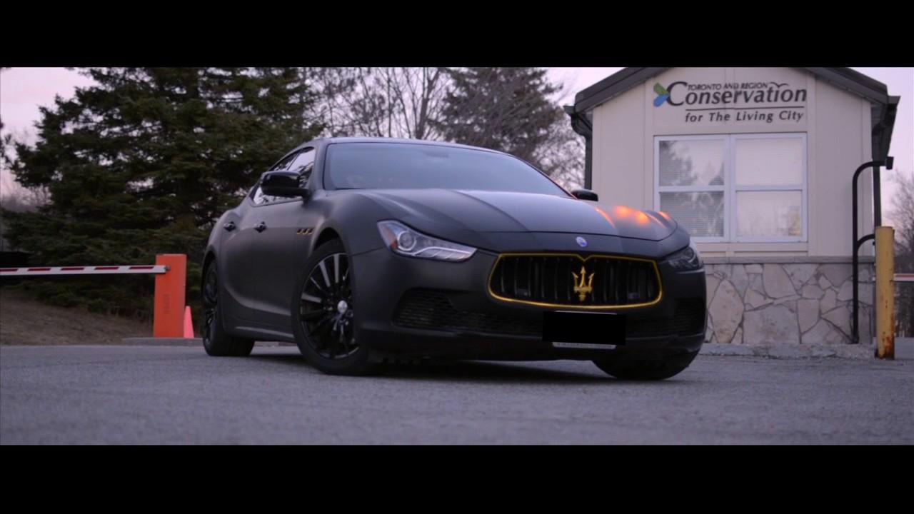 Maserati Flat Black And Gold Accent Phantom Autos Youtube