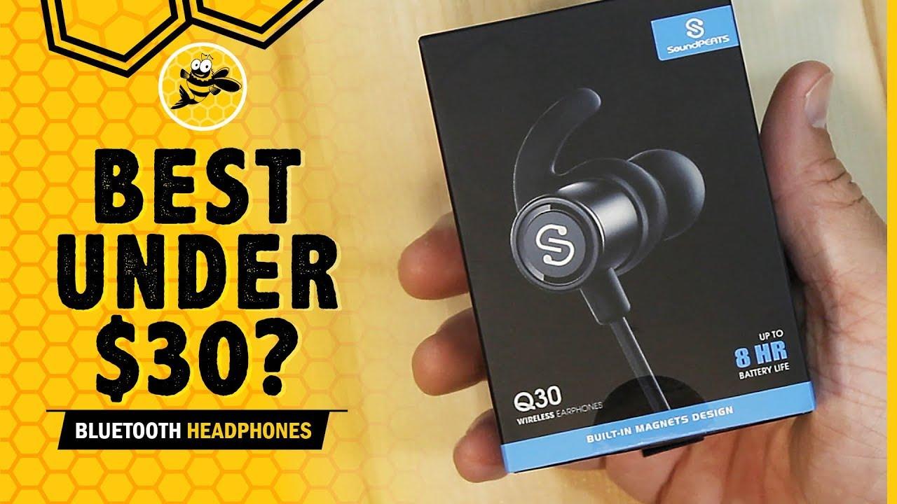 90c327674fc Best Bluetooth Headphones Under $30: SoundPEATS Q30 REVIEW - YouTube