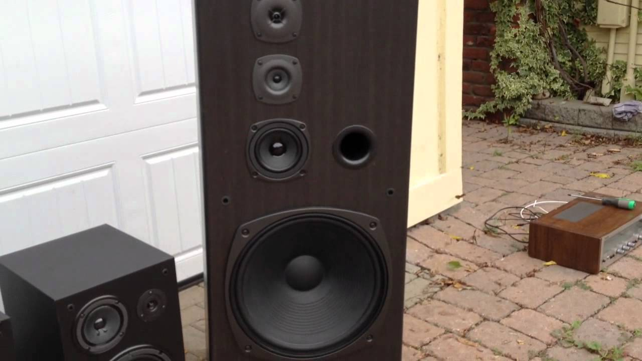 speakers for sale: kenwood towers + yamaha ns-a636 mint - youtube