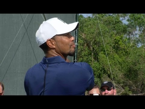 Tiger Woods nearly makes ace on No. 12 at Hero World Challenge