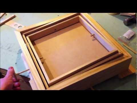 Woodworking Marble Labyrinth Game Tilt Control Test