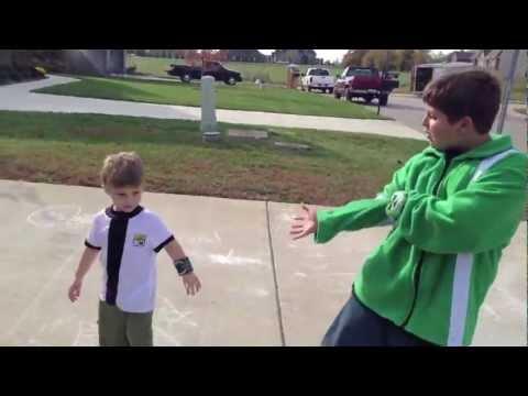 Real Life Ben 10 HeatBlast & SpiderMonkey vs: 2 Evil Bad Guys!