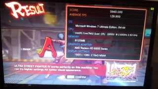 ultra street fighter iv q9550 ati hd 6970 performance