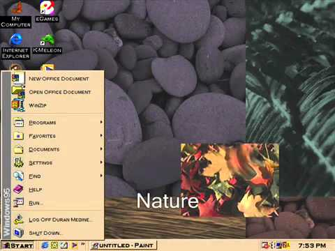 Windows 95 plus microsoft plus 95 desktop themes for Windows 95 startup sound