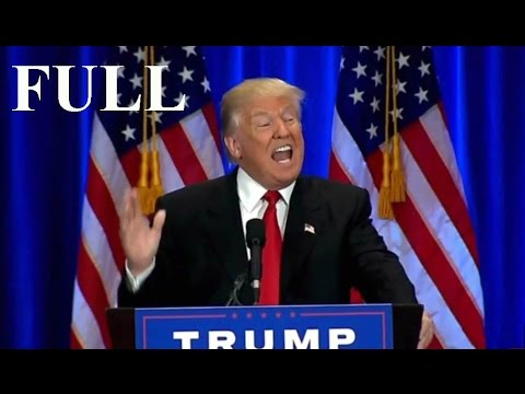 FULL Speech Donald Trump Speech at Trump SoHo in NYC (6-22-16).  Hillary Clinton