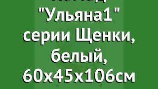 Комод Ульяна1 серии Щенки, белый, 60х45х106см (Антел) обзор Щ/К/У1/Бел производитель Антел (Россия)