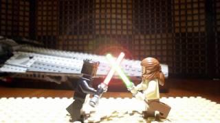 lego star wars stop motion darth maul vs qui gon jinn revised