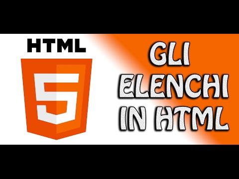 Guida HTML5 - 1.5 - Creare elenchi in HTML | FoglioDiStile.com