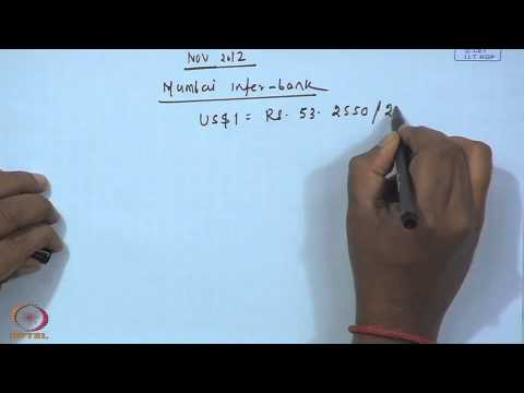 Mod-01 Lec-08 Exchange Rate Arithmetic