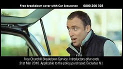 Churchill s parachute jump car insurance advert 2