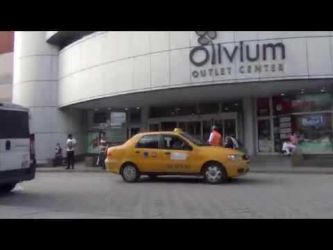 Istanbul.Fountain shopping center Historia (Aksaray). Shopping center Olivium (Zeytinburnu).