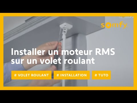 installer un moteur rms pour volet roulant avec somfy youtube. Black Bedroom Furniture Sets. Home Design Ideas