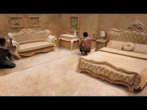 Build Most Modern Underground House with Private Underground Living Room King Room and Swimming Pool