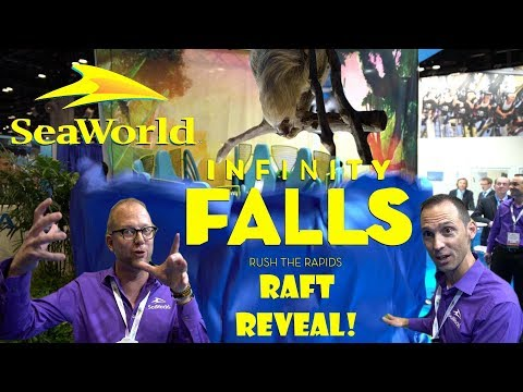 SeaWorld Parks & Entertainment 2018 Rides / Infinity Falls Raft Reveal & Interviews IAAPA 2017