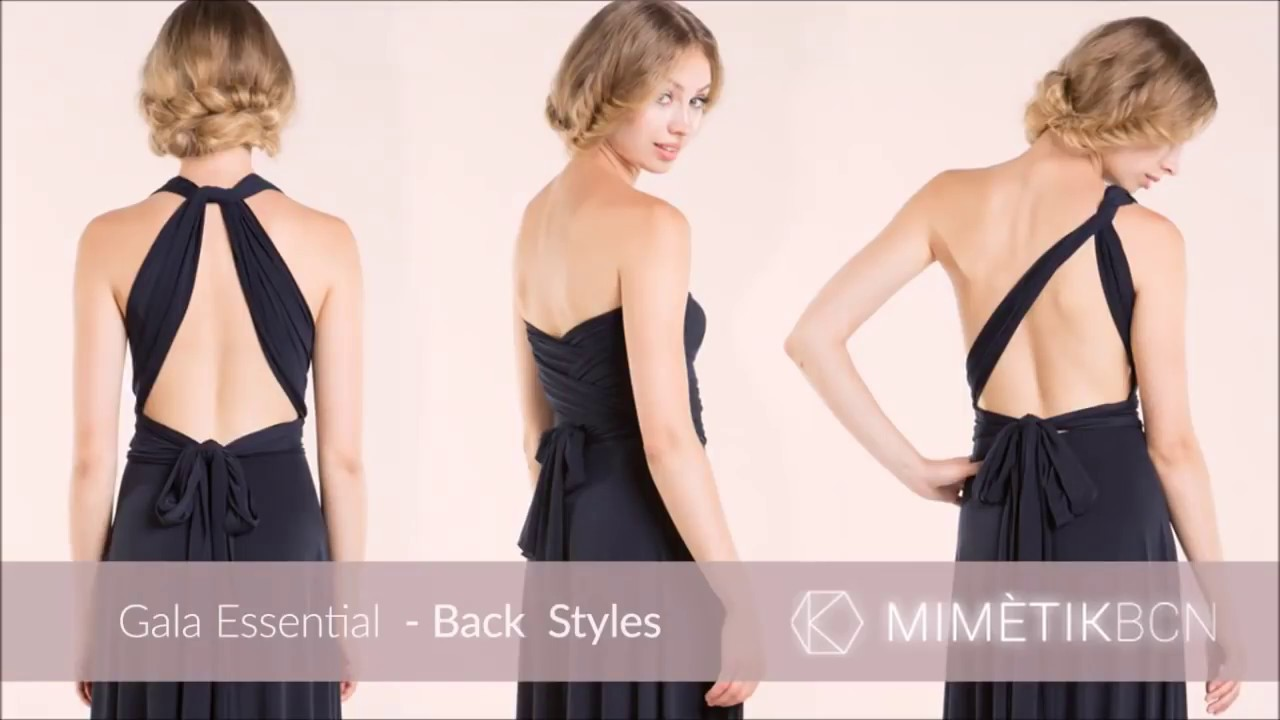 Wedding Infinity Dress Styles gala mimetik tutorial back styles infinity dress youtube dress