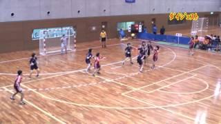 H25 第22回 JOCジュニアオリンピックカップ ハンドボール大会 大分VS岩手(ダイジェスト)(女子予選リーグ)