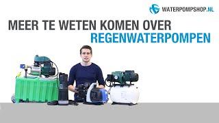 Regenwaterpomp - Advies over de juiste keuze