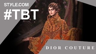 Скачать John Galliano Stages A Grand Opera For Dior Couture TBT With Tim Blanks Style Com