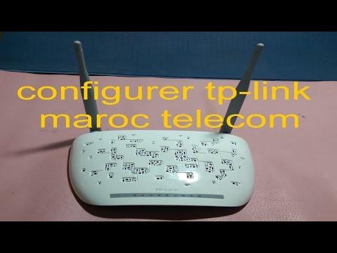 configuration routeur tp link TD W8961N maroc telecom