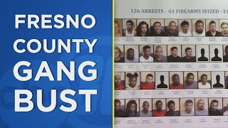 Fresno area gang bust: 126 arrested, 61 guns seized during multi-agency operation YouTube Videos