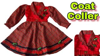 winter dress coat coller cutting and stitching