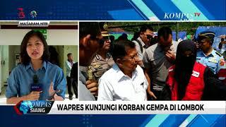 Wapres Kunjungi Korban Gempa di Lombok