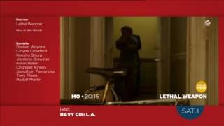 Lethal Weapon Staffel 1 Folge 2 TV-Trailer deutsch (Sat.1)