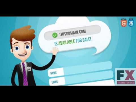 Preview Salesman - Domain For Sale Template