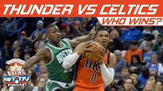 Okc Thunder vs Boston Celtics, Who will win ? | Hoops N Brews thumbnail