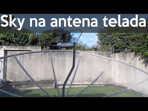Captando o Satélite da Sky Banda KU com uma antena telada - GPS.Pezquiza.com