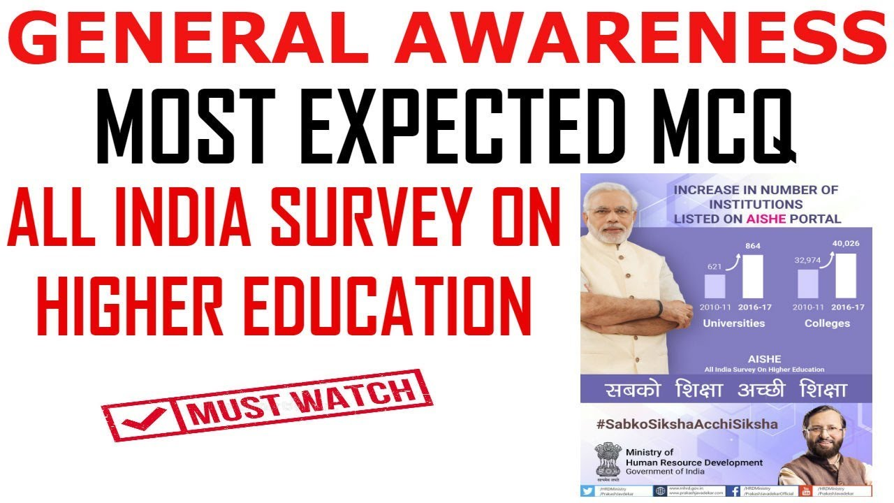 Ugc Net- All India Survey on Higher Education    AISHE    Lecture 6     General Awareness
