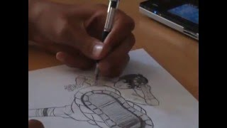 BEST ROCK LEE DRAWING!! How to draw Rock Lee