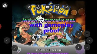 How to play Pokemon Mega adventure on Android in Hindi  Gameplay proof