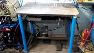 Сварочный стол трансформер(Стол для сварки и слесарки. Трансформируется для различных задач. Прошу прощения за тормознутость видео...., 2016-03-27T06:15:41.000Z)