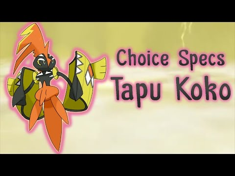 Choice Specs Tapu Koko! - Pokemon Sun and Moon OU Showdown live