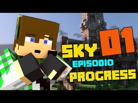 Sky Progress E1 - L'isola di Surry - Видео из Майнкрафт (Minecraft)